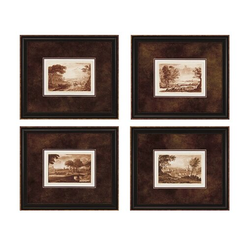 Landscapes II 4 Piece Framed Painting Print Set (Set of 4)