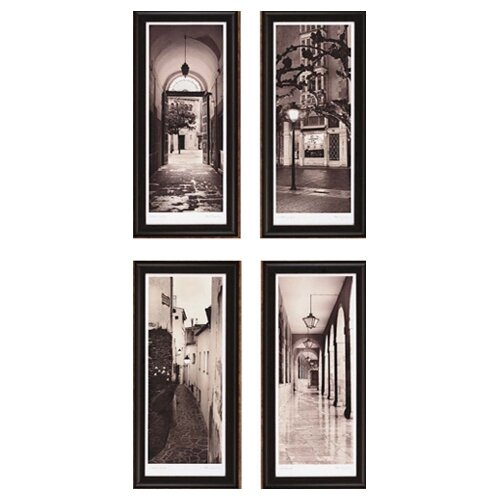 Paragon Espana by Blaustein 4 Piece Framed Painting Print Set