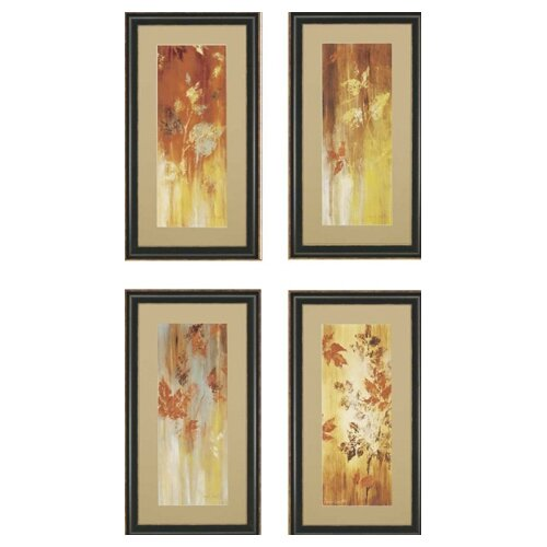 Tranquil Florals by Loreth Framed 4 Piece Painting Print