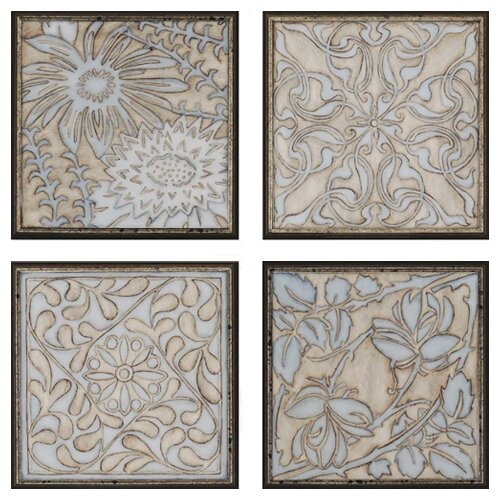 Filigree Architectural by Meagher Framed 4 Piece Graphic Art Set