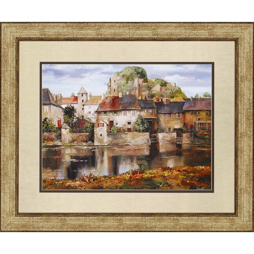 Paragon European Village Reflection by Duvall Framed Painting Print