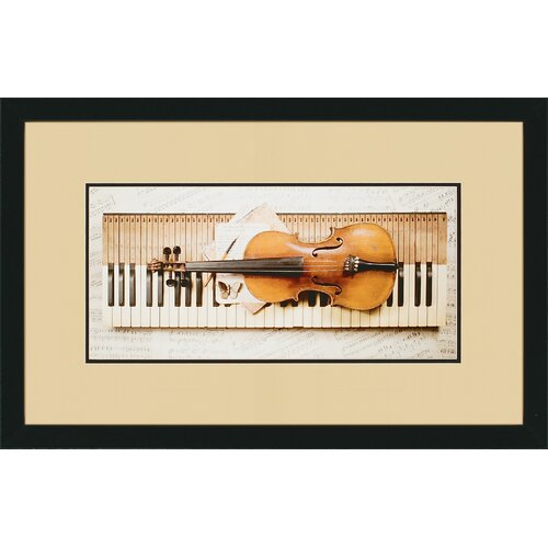 Keyboard by Burney Framed Photographic Print (Set of 3)