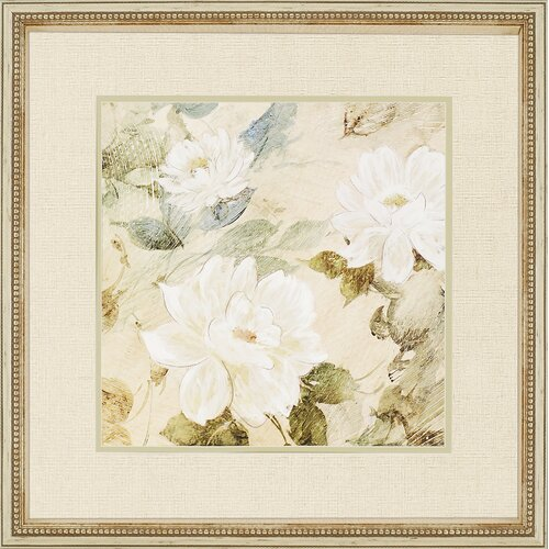 Paragon White Flowers II by Wilcox Painting Print Shadow Box
