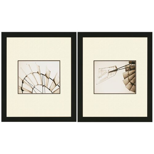 Windmill Studies by Revells Framed 2 Piece Photographic Print