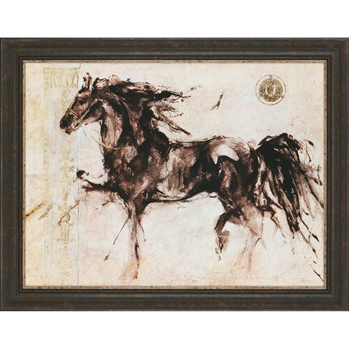 Paragon Horse Silhouette by Gottfried Framed Painting Print