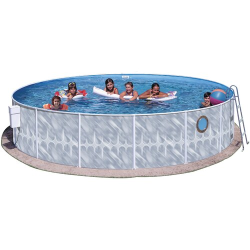 """Heritage Pools Round 42"""" Deep Pool Package with Port Hole"""