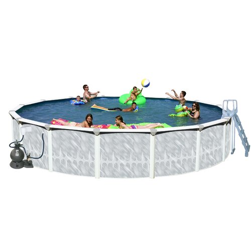 """Heritage Pools Round 52"""" Deep Tango Above Ground Complete Deluxe Pool Package"""