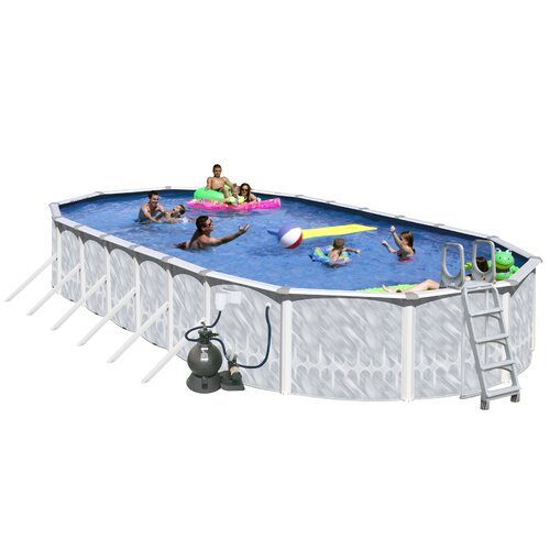 "Heritage Pools Oval 52"" Deep Tango Above Ground Complete Deluxe Pool Package"