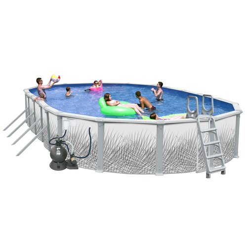 oval complete hamilton above ground pool package wayfair