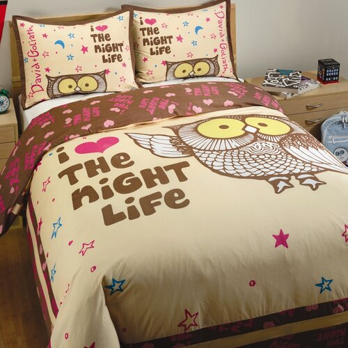 David & Goliath Night Life 2 Piece Twin Duvet Set