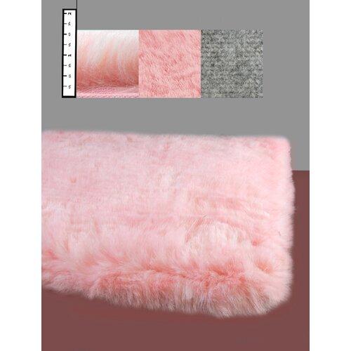 IXI Eros Faux Flokati Pink Rug