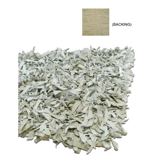 IXI Thalassa Premium Leather Grey/White Rug