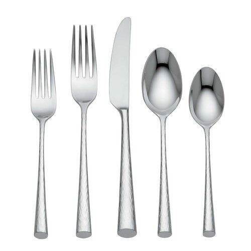 Marchesa by Lenox Imperial Caviar 5 Piece Flatware Set