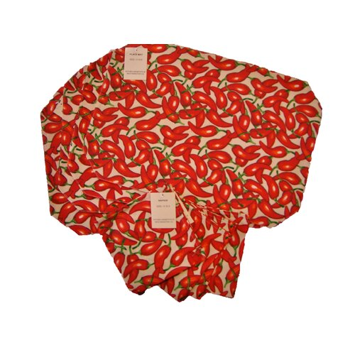Chili Cotton Napkin and Placemat (Set of 8)