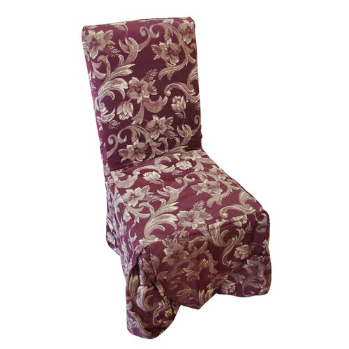 Textiles Plus Inc. Jacquard Scroll Dining Chair Slipcover
