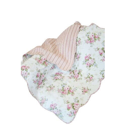 Textiles Plus Inc. Rose Perfume Spring Rose Cotton Throw