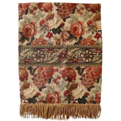 Vintage Floral Tapestry Throw