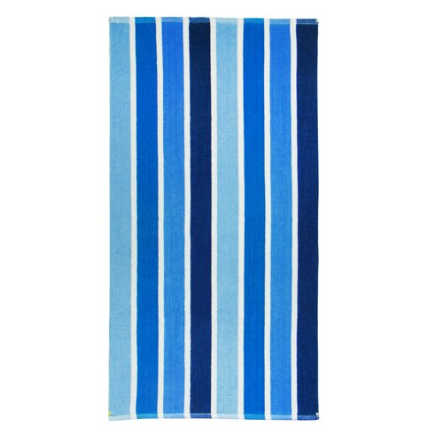 Striped Terry Beach Towel