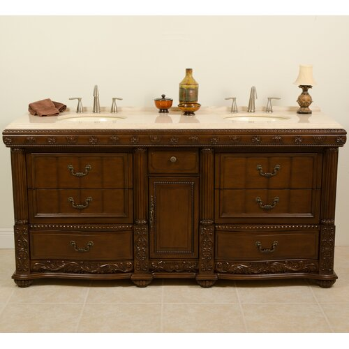 "Global Treasures Kent 60"" Double Sink Vanity Set"