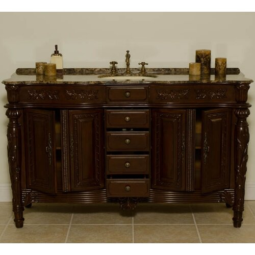 "Global Treasures Manchester 61"" Single Bathroom Vanity Set"