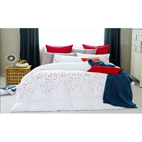 Red Petal 7 Piece Duvet Cover Set