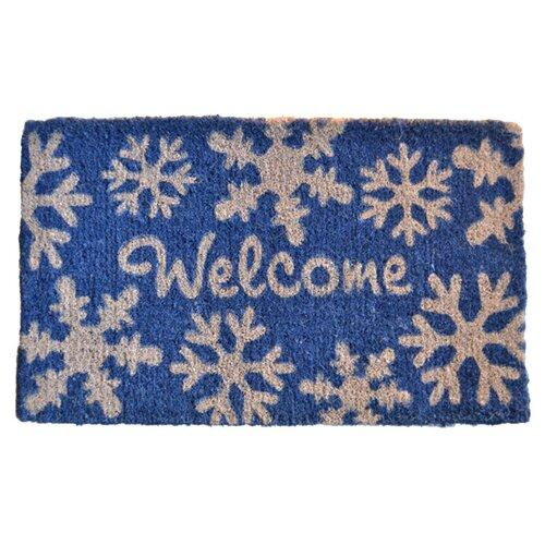 Welcome Snow Flakes Doormat