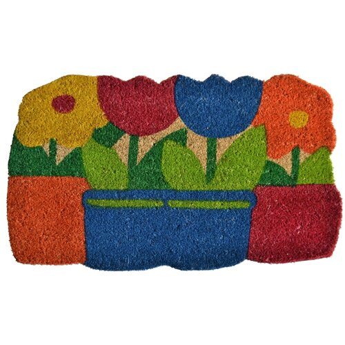 Imports Decor Flowers Pots Doormat