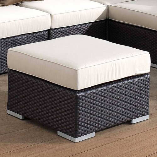 Sunset West Solana Ottoman with Cushion