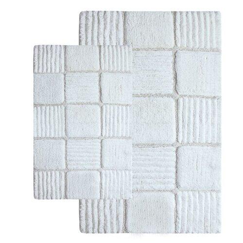 Chesapeake Merchandising Inc. Checkerboard Contemporary Bath Rug (Set of 2)