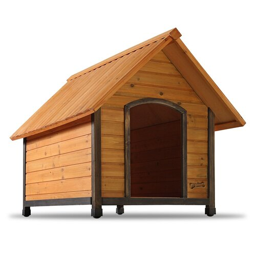 Dog house wood outdoor indoor small medium large pet breed for Large breed dog house