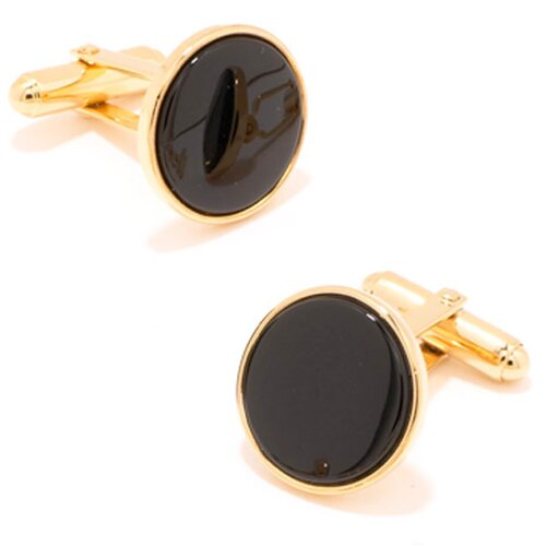Ox and Bull Gold and Onyx Cufflinks