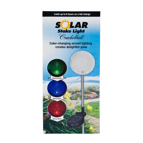 Headwind Consumer Products Solar Crackle Ball Garden Stake