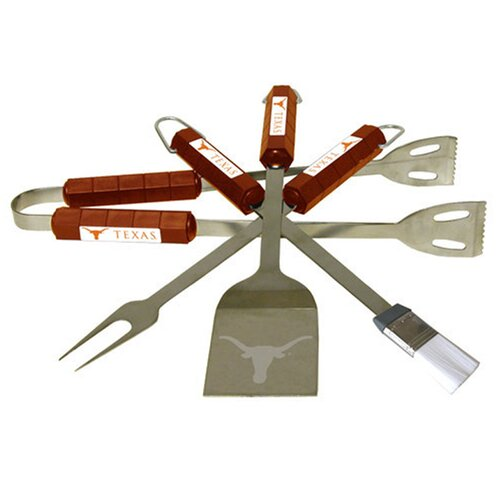 BSI Products NCAA 4-Piece BBQ Grill Tool Set