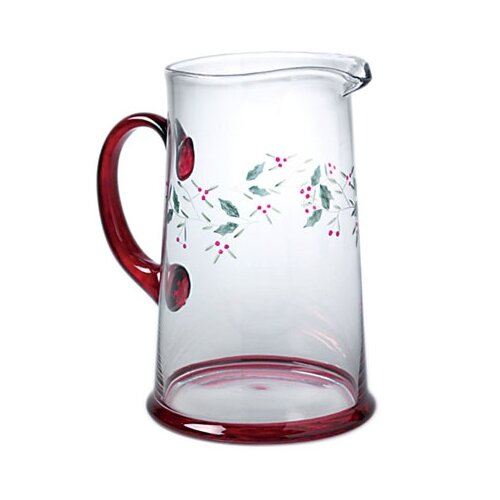 Winterberry Glass 2.5 Qt Water Pitcher
