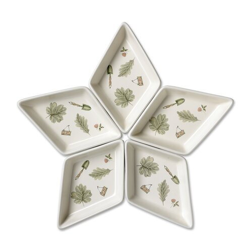 Pfaltzgraff Naturewood Segmented Star Serving Tray
