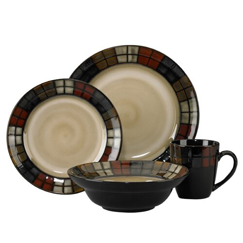 Calico 16 Piece Dinnerware Set