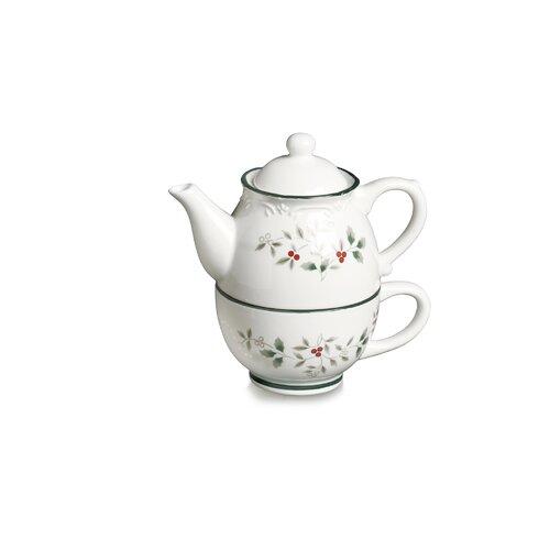Pfaltzgraff Winterberry 2 Piece 0.5-qt.Tea Set