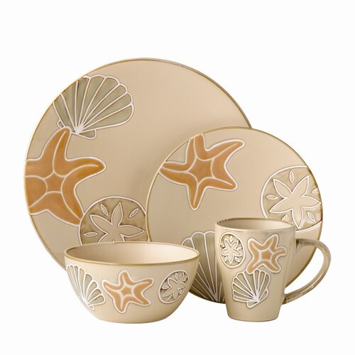 Pfaltzgraff Everyday Sandy Shore 16 Piece Dinnerware Set