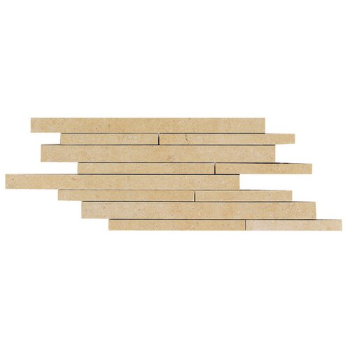 Daltile City View Random Sized Linear Brick Joint Tile in District Gold