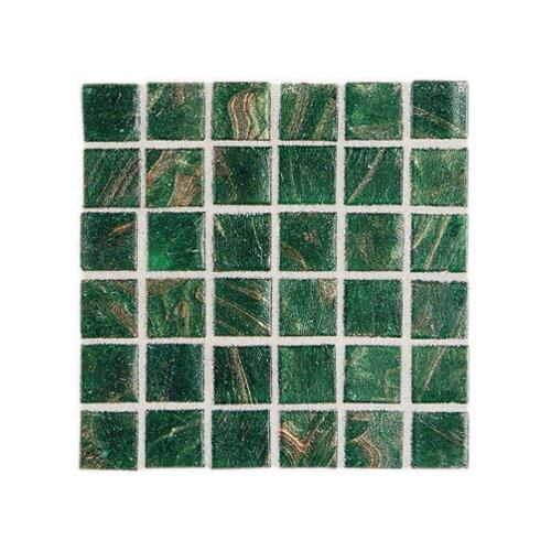 "Daltile Elemental Glass 3/4"" x 3/4"" Mosaic Tile in Shamrock"