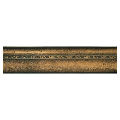 "Daltile Metal Signatures Chateau Ogee 12"" x 3"" Liner in Aged Bronze"