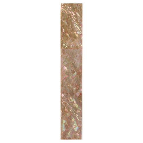 "Daltile Ocean Jewels 6"" x 1"" Crackled Flat Accent Strip in Brown Lip"