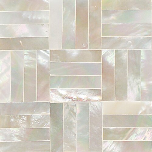 "Daltile Ocean Jewels 2"" x 2"" Basketweave Accent Tile in Mother of Pearl"