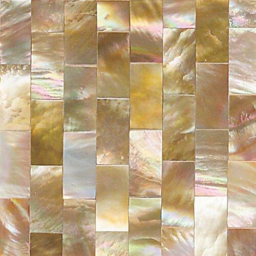 "Daltile Ocean Jewels 2"" x 2"" Running Board Accent Tile in Brown Lip"