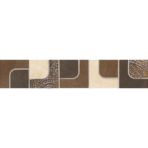 "Daltile Concrete Connection 13"" x 2-1/2"" Decorative Accent in Retro Warm"