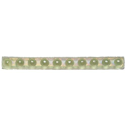 """Daltile Cristallo Glass 8"""" x 3/4"""" Bead Decorative Accent in Peridot"""