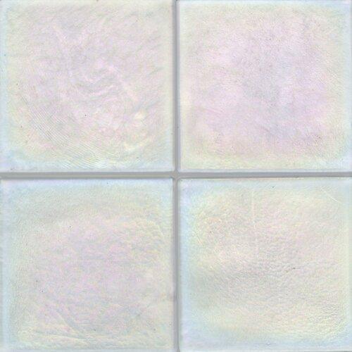 """Daltile Cristallo Glass 4"""" x 4"""" Field Tile in Aquamarine"""