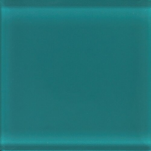 """Daltile Glass Reflections 4-1/4"""" x 4-1/4"""" Glossy Wall Tile in Almost Aqua"""