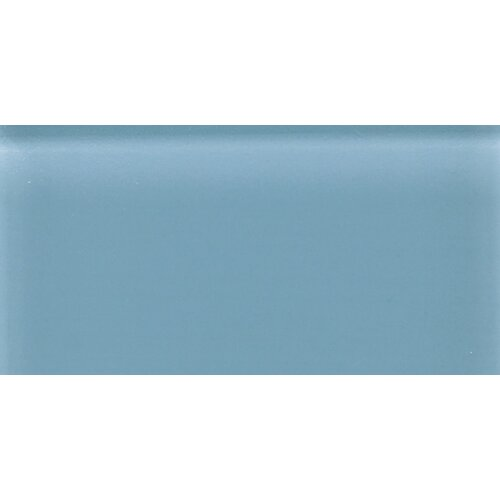 """Daltile Glass Reflections 4-1/4"""" x 8-1/2"""" Frosted Wall Tile in Blue Lagoon"""
