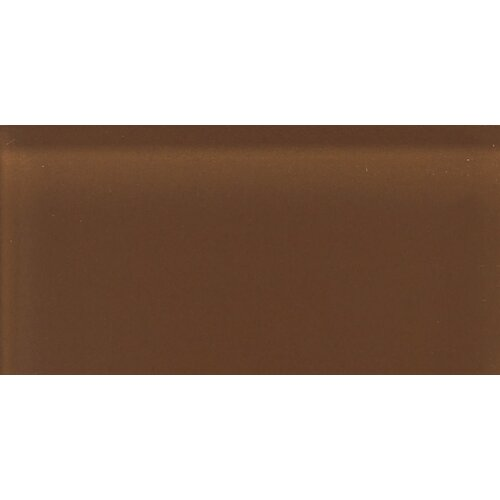 """Daltile Glass Reflections 4-1/4"""" x 8-1/2"""" Frosted Wall Tile in Caramel Sundae"""